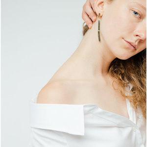 Jenny Bird Gold Tidal Drop Earrings